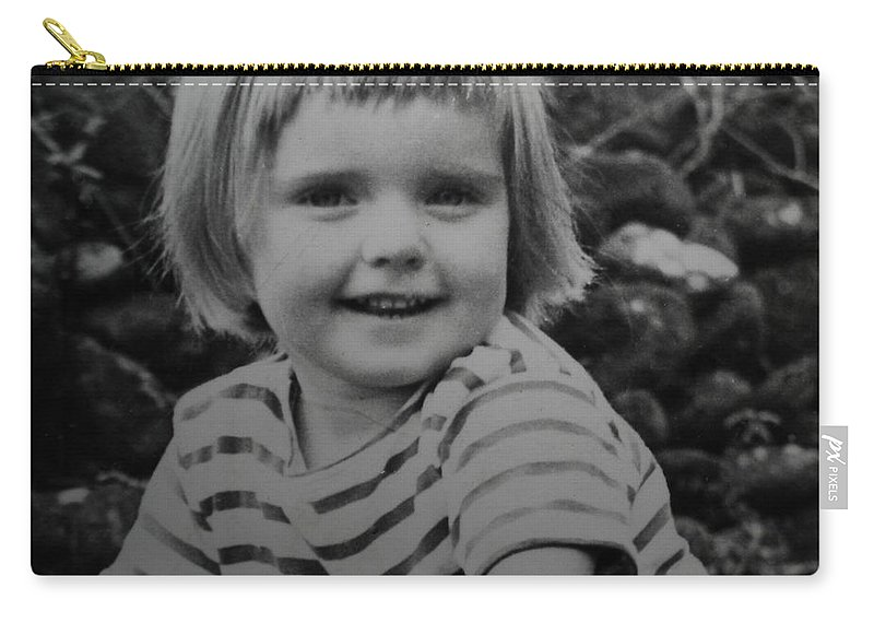 Colette Carry-all Pouch featuring the photograph Colette Happy 4 Years Old In France by Colette V Hera Guggenheim