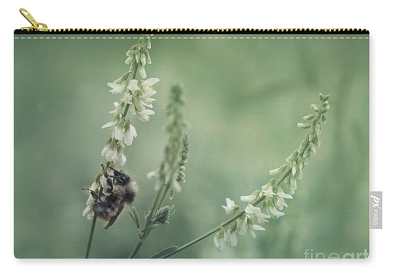 Sweet Clover Carry-all Pouch featuring the photograph Collecting The Summer by Priska Wettstein
