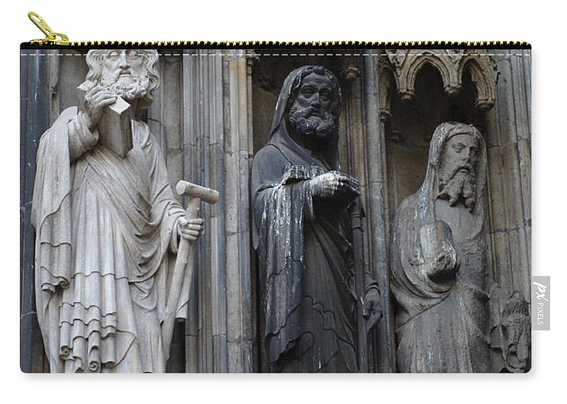 Christianity Carry-all Pouch featuring the photograph Cologne Cathedral Statues by Bob Christopher