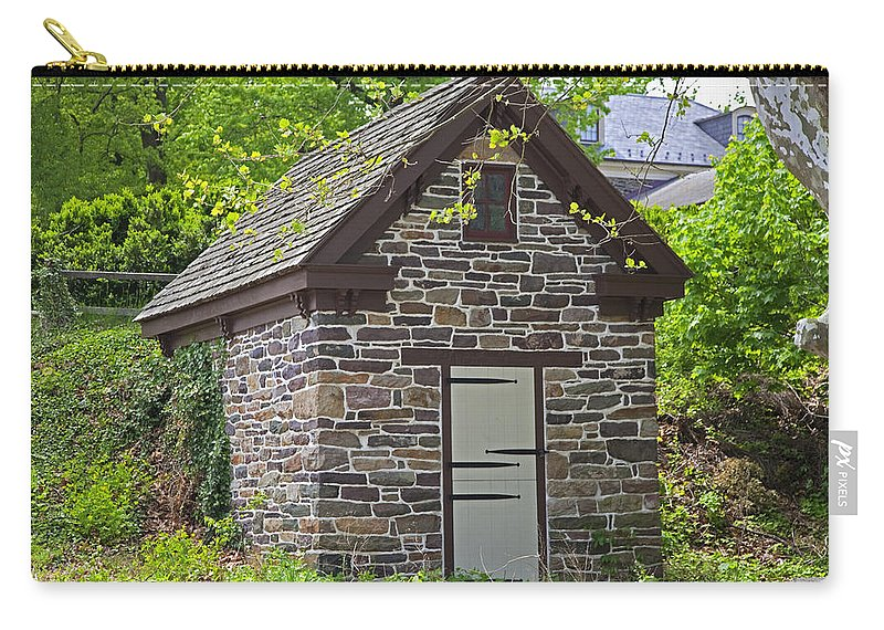Ice House Carry-all Pouch featuring the photograph Colonial Stone Ice House by John Stephens
