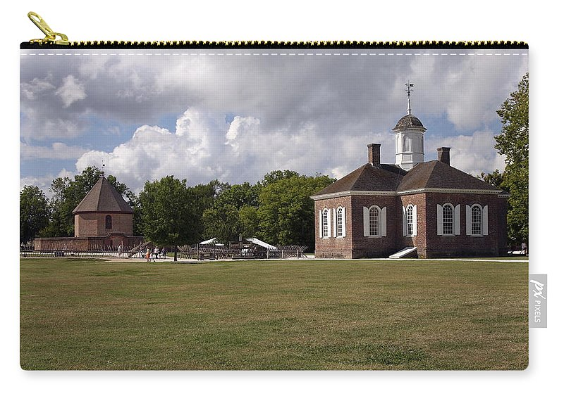Courthouse Carry-all Pouch featuring the photograph Colonial Williamsburg Scene by Sally Weigand