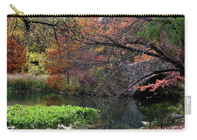 New York City Carry-all Pouch featuring the photograph Color Splash In Central Park by Lorraine Devon Wilke