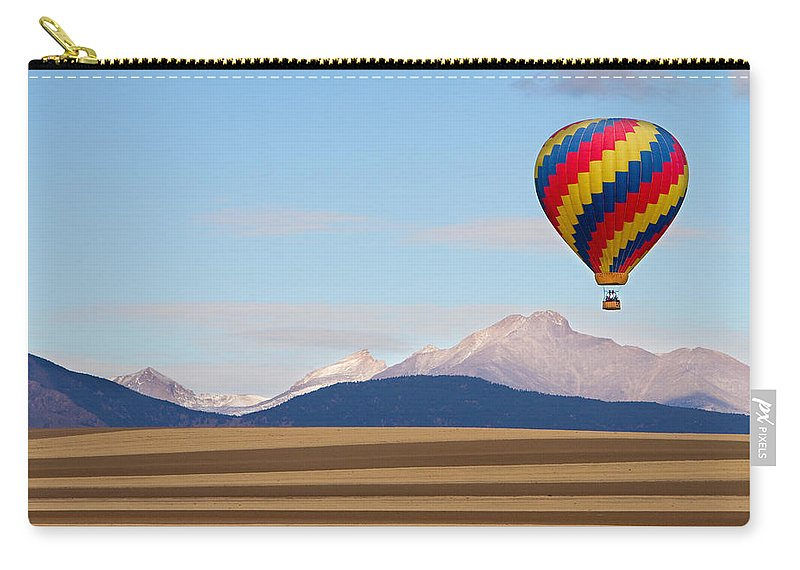 Ballooning Carry-all Pouch featuring the photograph Colorado Ballooning by James BO Insogna