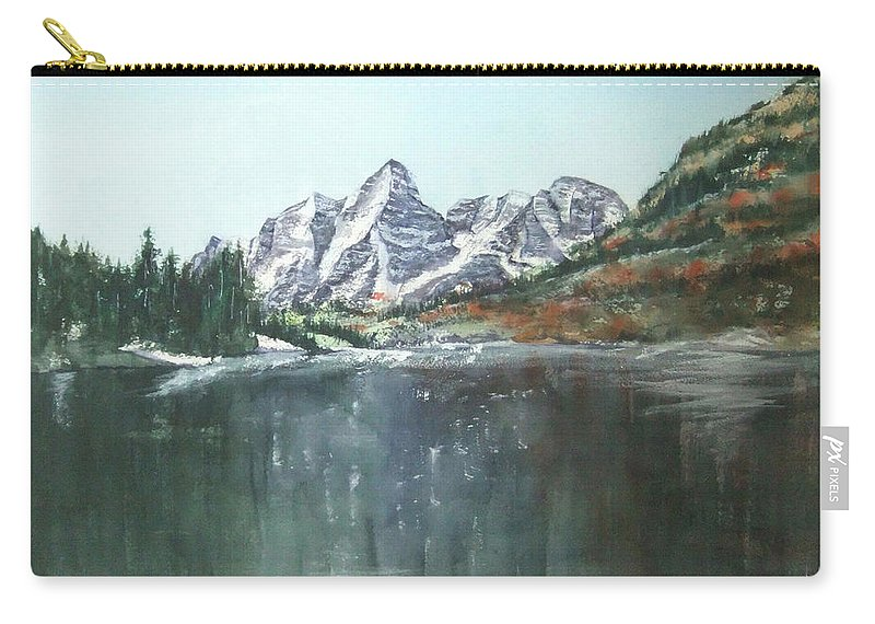 Watercolor Landscape Carry-all Pouch featuring the painting Colorado Beauty by Debbie Lewis