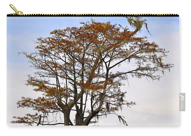 Cypress Carry-all Pouch featuring the photograph Colorful Cypress by Al Powell Photography USA