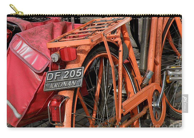 Bikes Carry-all Pouch featuring the photograph Colorful Dutch Bikes by Lainie Wrightson
