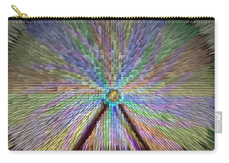Extrude Carry-all Pouch featuring the photograph Colorful Fair Wheel by Donna Brown