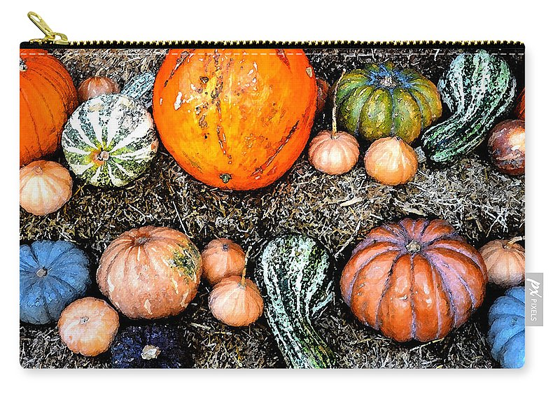 Fall Carry-all Pouch featuring the painting Colorful Fall Harvest by David Lee Thompson