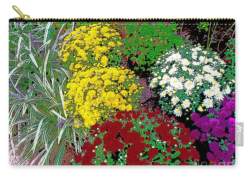 Bature Carry-all Pouch featuring the photograph Colorful Mums Photo Art by Debbie Portwood