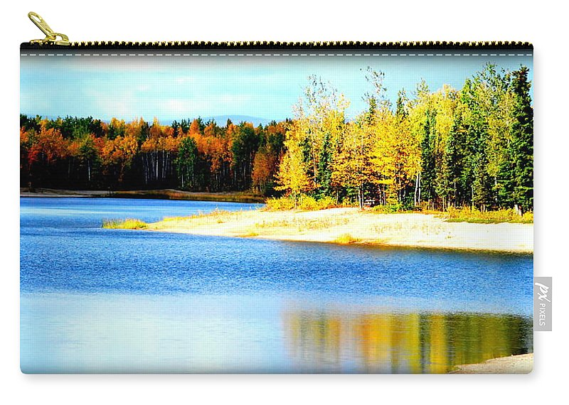 Lake Carry-all Pouch featuring the photograph Colors At Chena Ll by Kathy Sampson