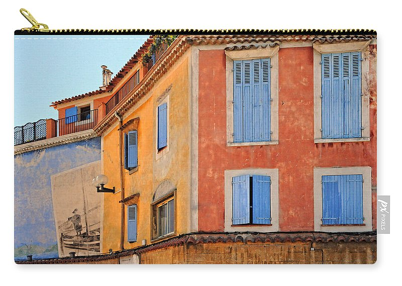 Building Carry-all Pouch featuring the photograph Colors In Provence by Dave Mills