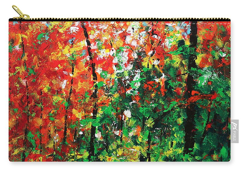 Colors Of October Carry-all Pouch featuring the painting Colors Of October by Kume Bryant