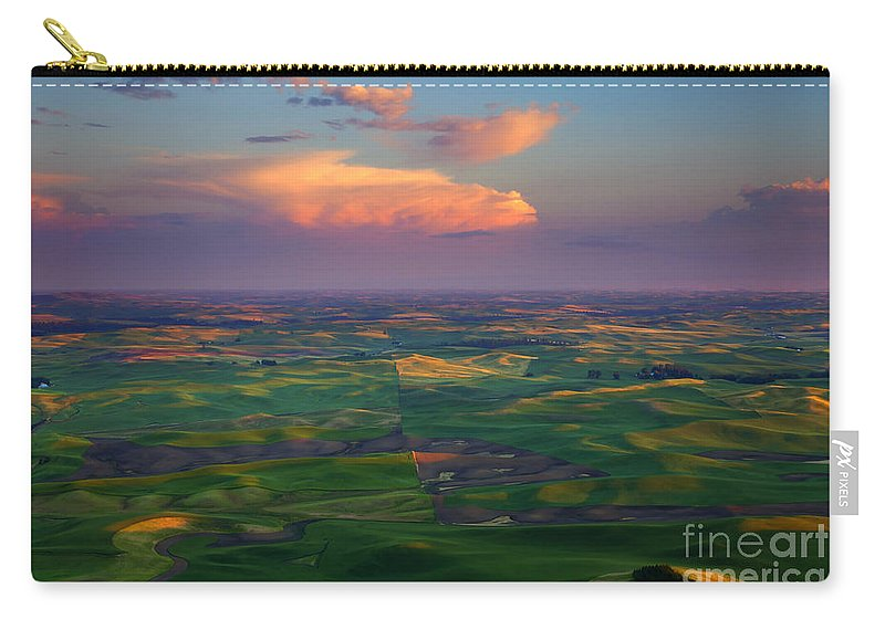Palouse Carry-all Pouch featuring the photograph Colors Of The Palouse by Mike Dawson