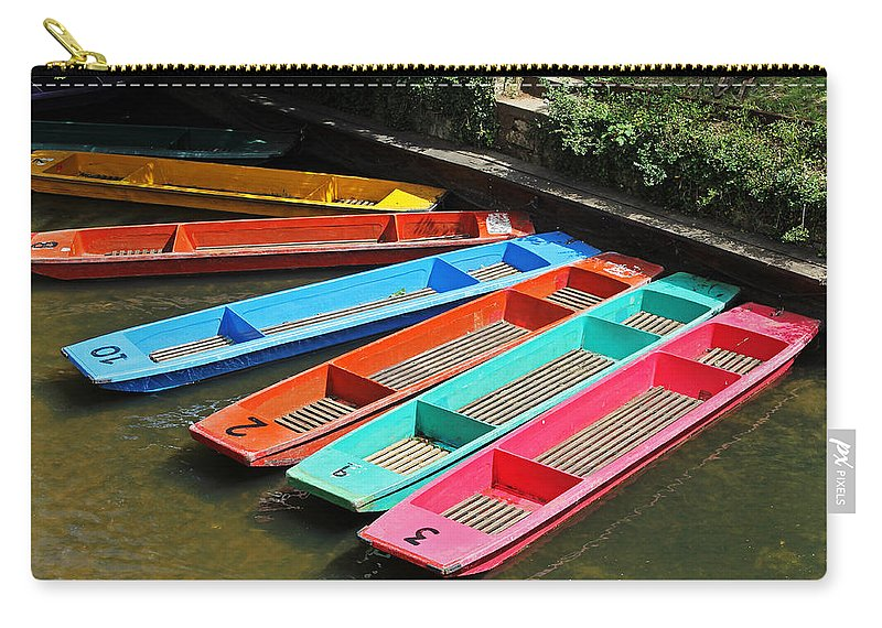 Oxford Carry-all Pouch featuring the photograph Colourful Punts by Tony Murtagh