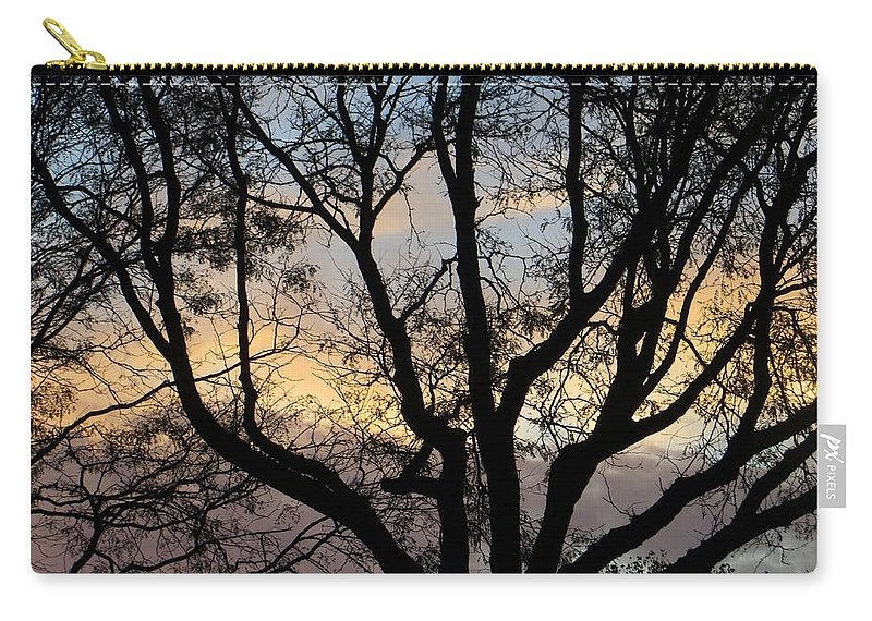 Evening About To Carry-all Pouch featuring the photograph Colours Of The Dusk by Sonali Gangane