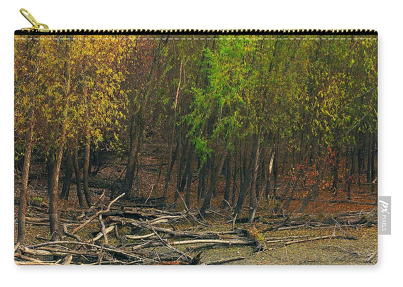 Trees Carry-all Pouch featuring the photograph Columbia Bottoms Slough by Greg Matchick