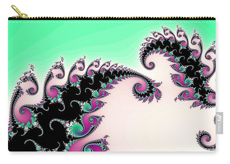 Digital Art Carry-all Pouch featuring the painting Come And Dance With Me by Tatjana Popovska