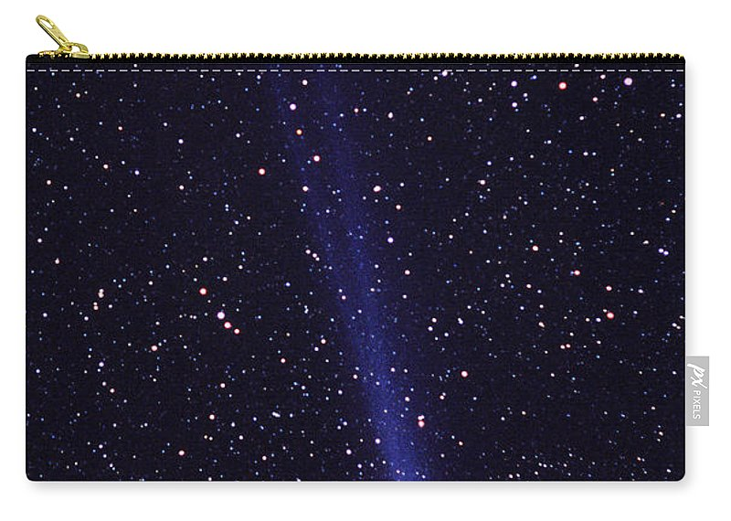 Astronomy Carry-all Pouch featuring the photograph Comet Hyakutake by Jerry Schad and Photo Researchers