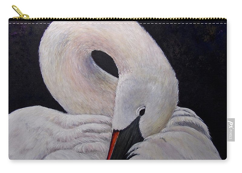 Swan Carry-all Pouch featuring the painting Comfort by Dee Carpenter