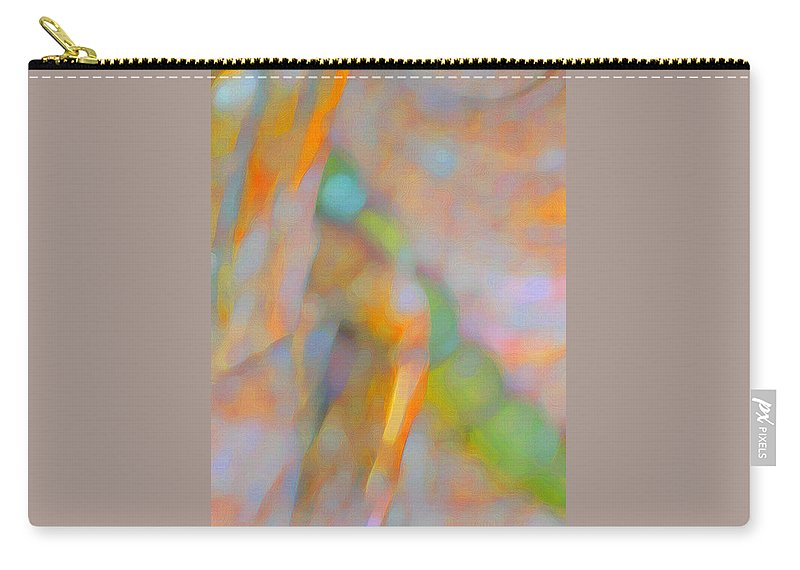 Abstract Carry-all Pouch featuring the digital art Comfort by Richard Laeton