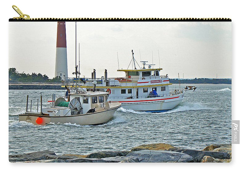 Inlet Carry-all Pouch featuring the photograph Coming Home - Barnegat Inlet Nj by Mother Nature