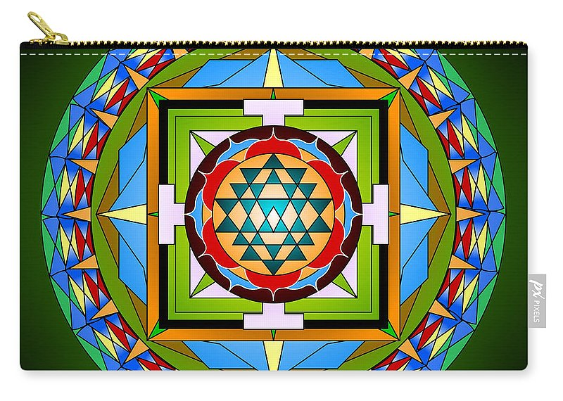 Mandalas Carry-all Pouch featuring the digital art Compassionate Vision by Mario Carini