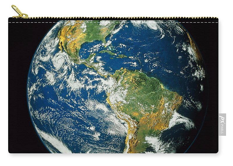 Americas Carry-all Pouch featuring the photograph Composite Image Of Whole Earth Blue by NASA / Goddard Space Flight Center