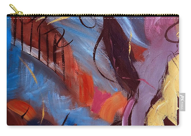 Abstract Carry-all Pouch featuring the painting Compromising Situations by Ruth Palmer
