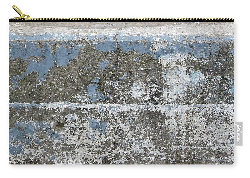 Urban Carry-all Pouch featuring the photograph Concrete Blue 1 by Anita Burgermeister
