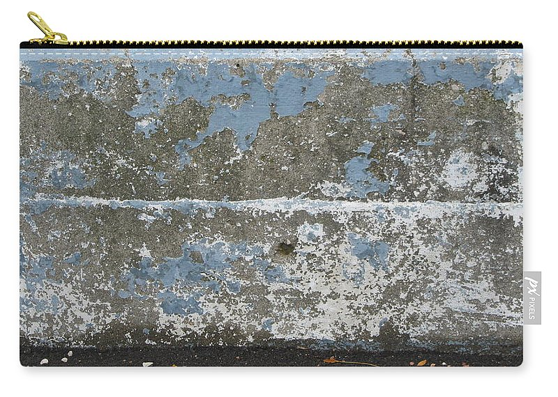 Urban Carry-all Pouch featuring the photograph Concrete Blue 2 by Anita Burgermeister
