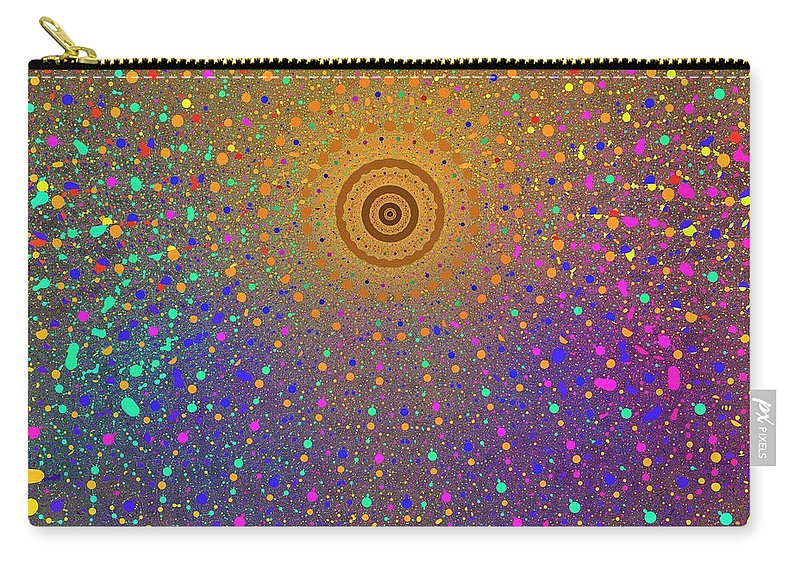 Fractal Carry-all Pouch featuring the digital art Confetti Shower by Mark Greenberg