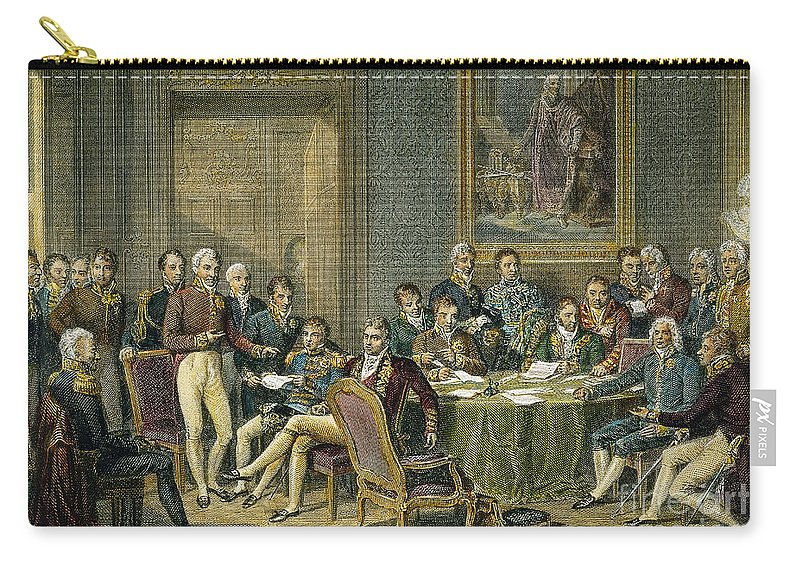 1815 Carry-all Pouch featuring the photograph Congress Of Vienna, 1815 by Granger