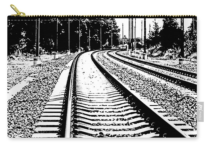 Railroad Carry-all Pouch featuring the digital art Conneticut Railway by Lizi Beard-Ward