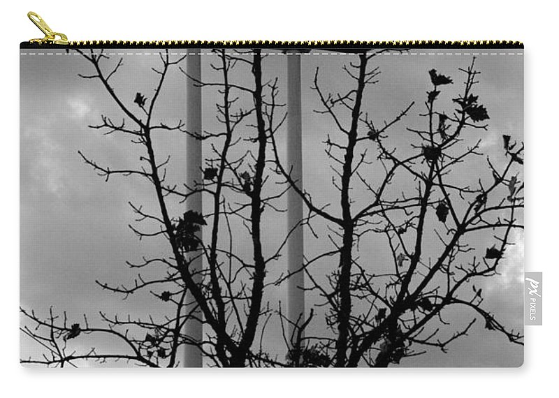 Gas Station Sign Carry-all Pouch featuring the photograph Conoco by Cindy Tiefenbrunn