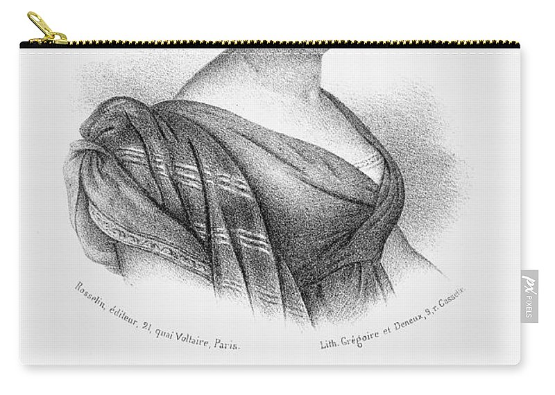 19th Century Carry-all Pouch featuring the photograph Constance De Salm by Granger