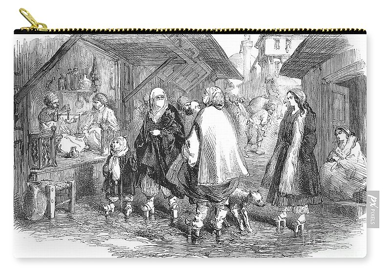 1854 Carry-all Pouch featuring the photograph Constantinople, 1854 by Granger