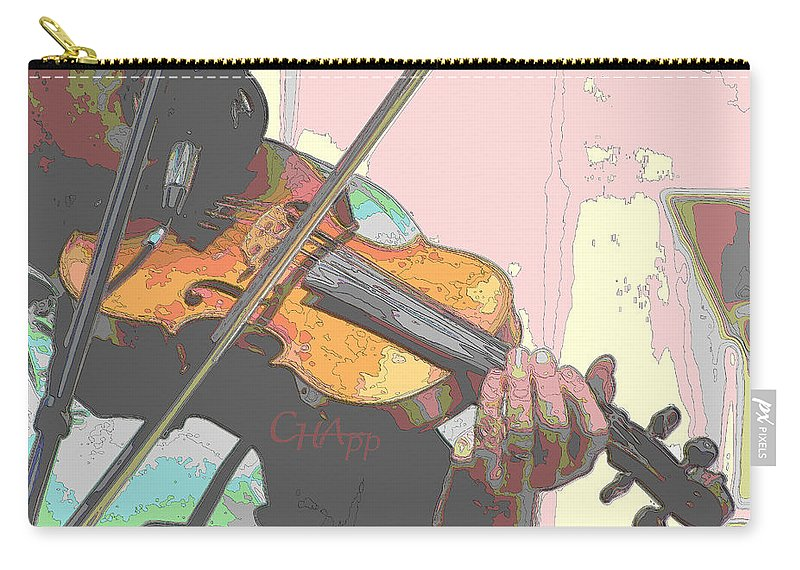 Fiddle Carry-all Pouch featuring the photograph Contorno Fiddle by C H Apperson