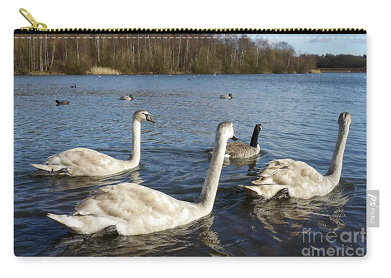 Cynets Carry-all Pouch featuring the photograph Conversation by John Chatterley