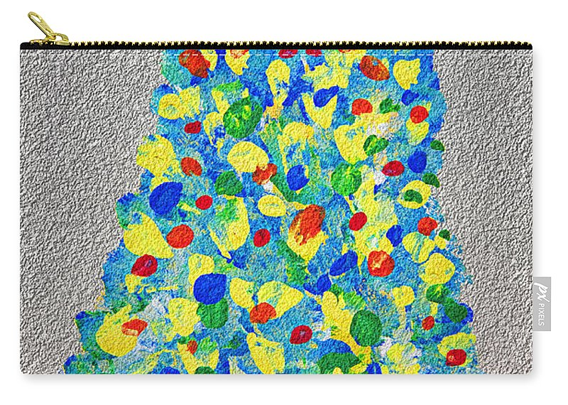 Pear Carry-all Pouch featuring the painting Cool Crazy Pear Abstract Painting by Andee Design