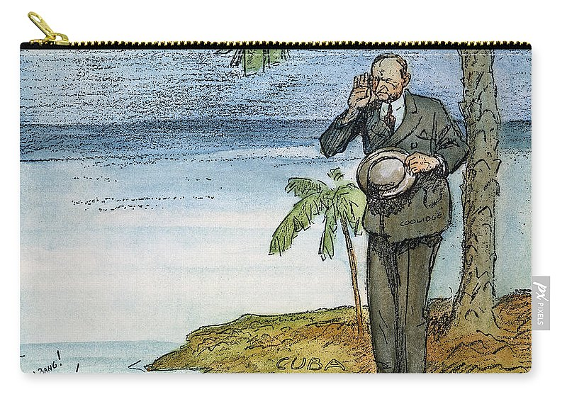 1928 Carry-all Pouch featuring the photograph Coolidge: Nicaragua, 1928 by Granger