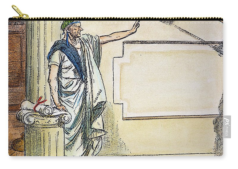 1928 Carry-all Pouch featuring the photograph Coolidge: Third Term, 1928 by Granger