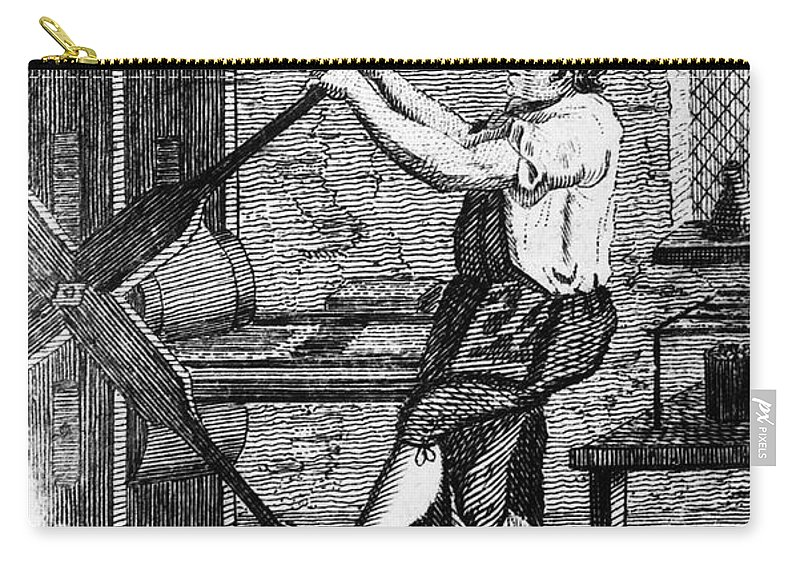 1807 Carry-all Pouch featuring the photograph Copper Plate Printer, 1807 by Granger