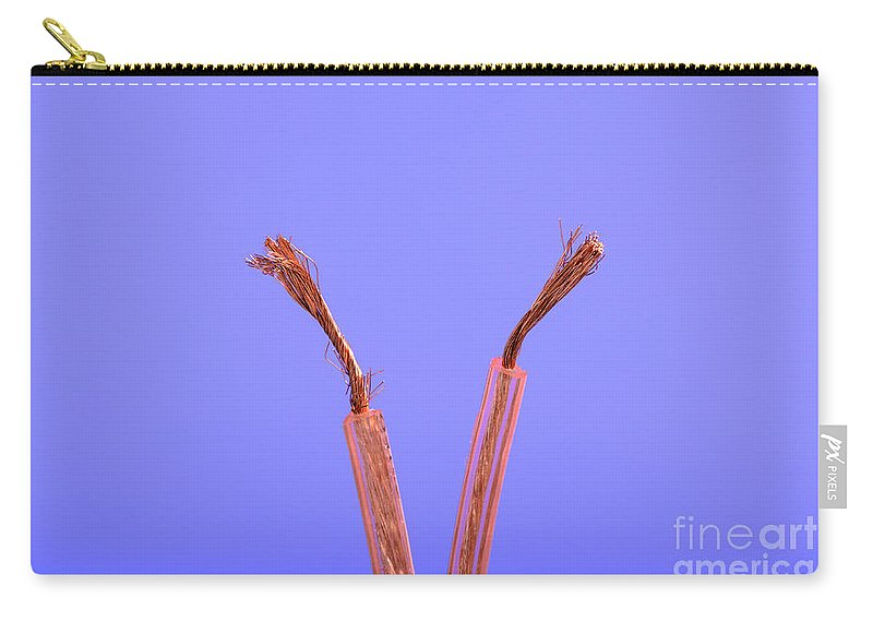 Wire Carry-all Pouch featuring the photograph Copper Wire by Photo Researchers, Inc.