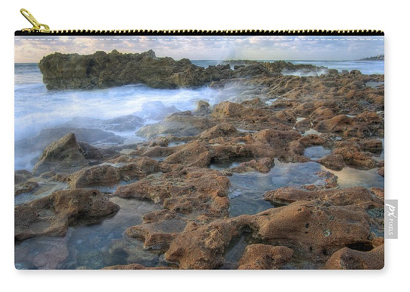 Sunrise Carry-all Pouch featuring the photograph Coral Cove by Darleen Stry