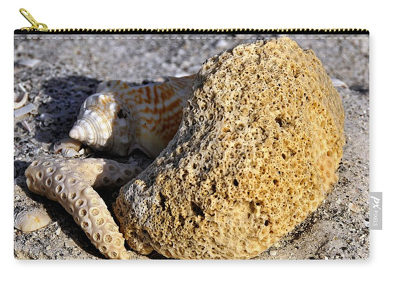 Fine Art Photography Carry-all Pouch featuring the photograph Coral On Shore by David Lee Thompson