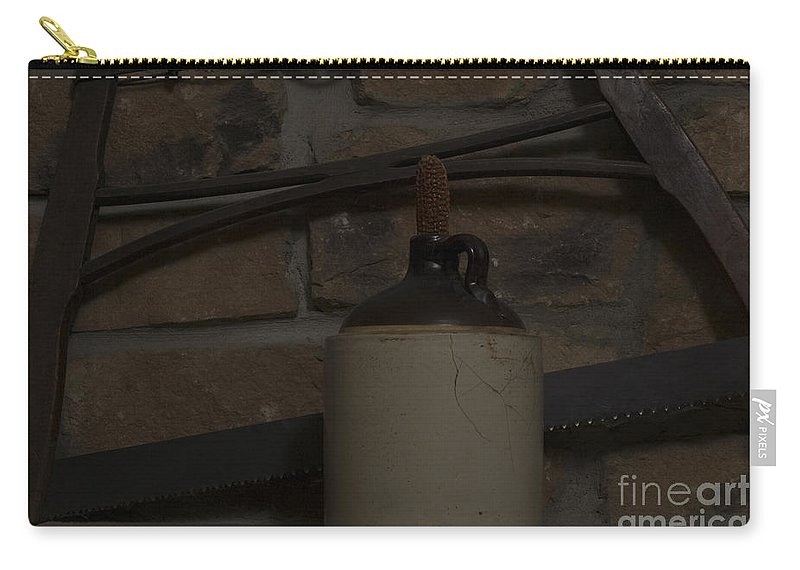 Antique Carry-all Pouch featuring the photograph Corked White Lightning 13 by Alan Look