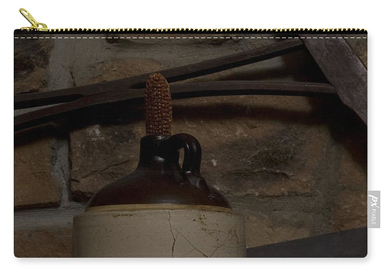 Antique Carry-all Pouch featuring the photograph Corked White Lightning 9 by Alan Look