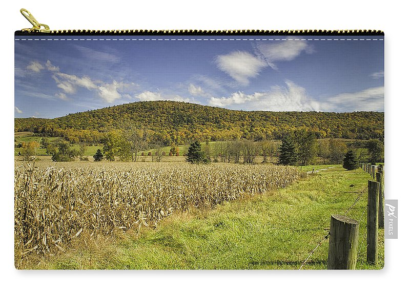 Landscape Carry-all Pouch featuring the photograph Cornfield by Fran Gallogly