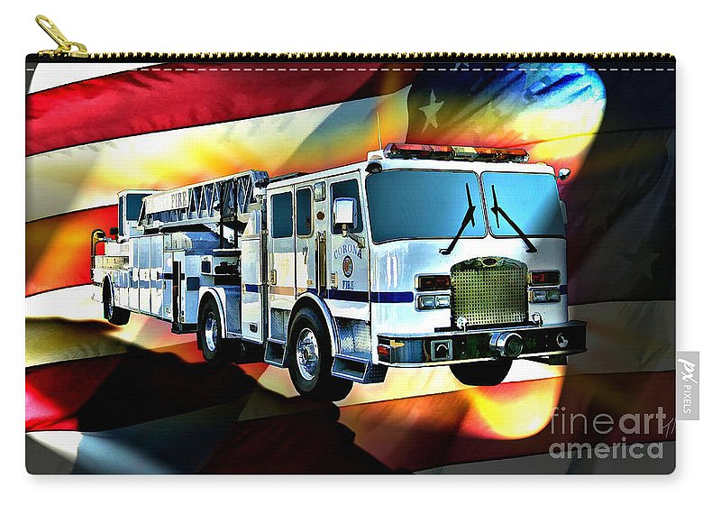 Corona Carry-all Pouch featuring the digital art Corona Ladder 7 by Tommy Anderson