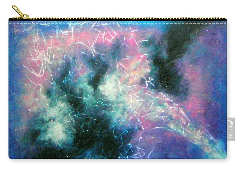 Cosmos Carry-all Pouch featuring the painting Cosmic Dance by Rose Lynch